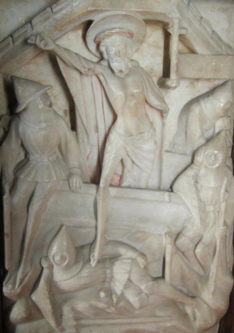 Bas-relief dans l'église de Montpezat-du-Quercy, Tarn et Garonne