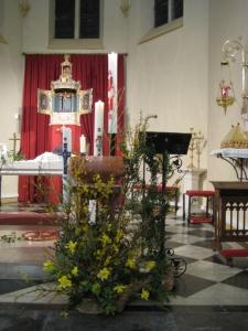 Cierges pascals des trois paroisses du secteur des Hauteurs