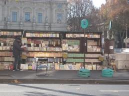 Bibliothèques verte, rose, rouge et or... dur, dur de ne pas aller voir plus près!