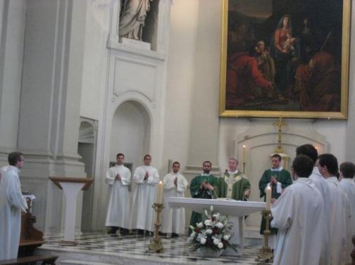 Messe présidée par le père Alain