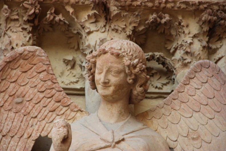 L'ange au sourire, cathédrale de Reims