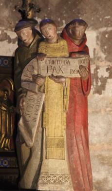 Crèche dans la cathédrale de Reims - Oeuvre de Paul Bialais