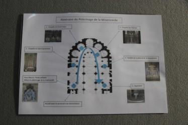 Parcours de la Miséricorde dans la cathédrale de Reims