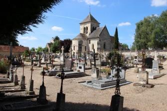 Cimetière et église de Marcé-sur-Esves