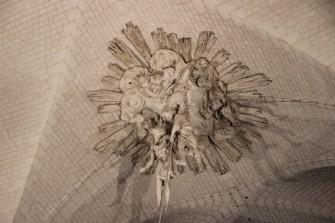 Eglise abbatiale de Valloires - La décoration en stuc de la voûte
