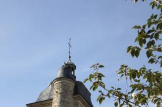 Clocher si particulier de l'église de Troissy
