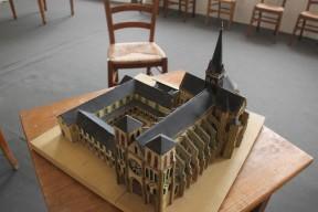 Orbais l'Abbaye - Maquette de l'abbaye