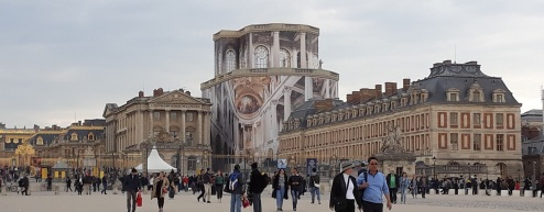 La chapelle royale dans les échafaudages - Versailles