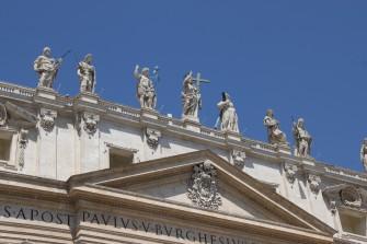 Façade de Saint-Pierre au Vatican